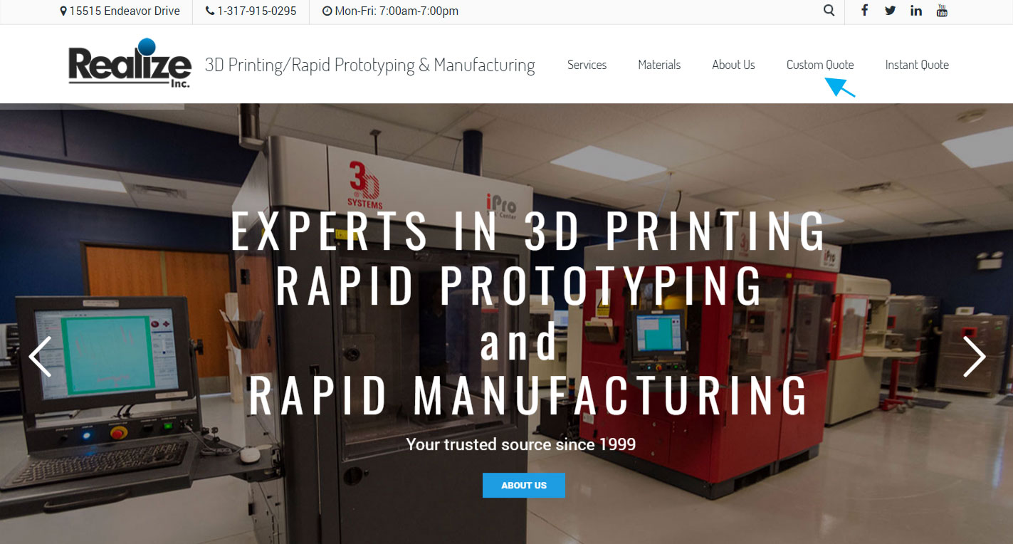 realize inc experts in 3d printing, rapid prototyping \u0026 rapid